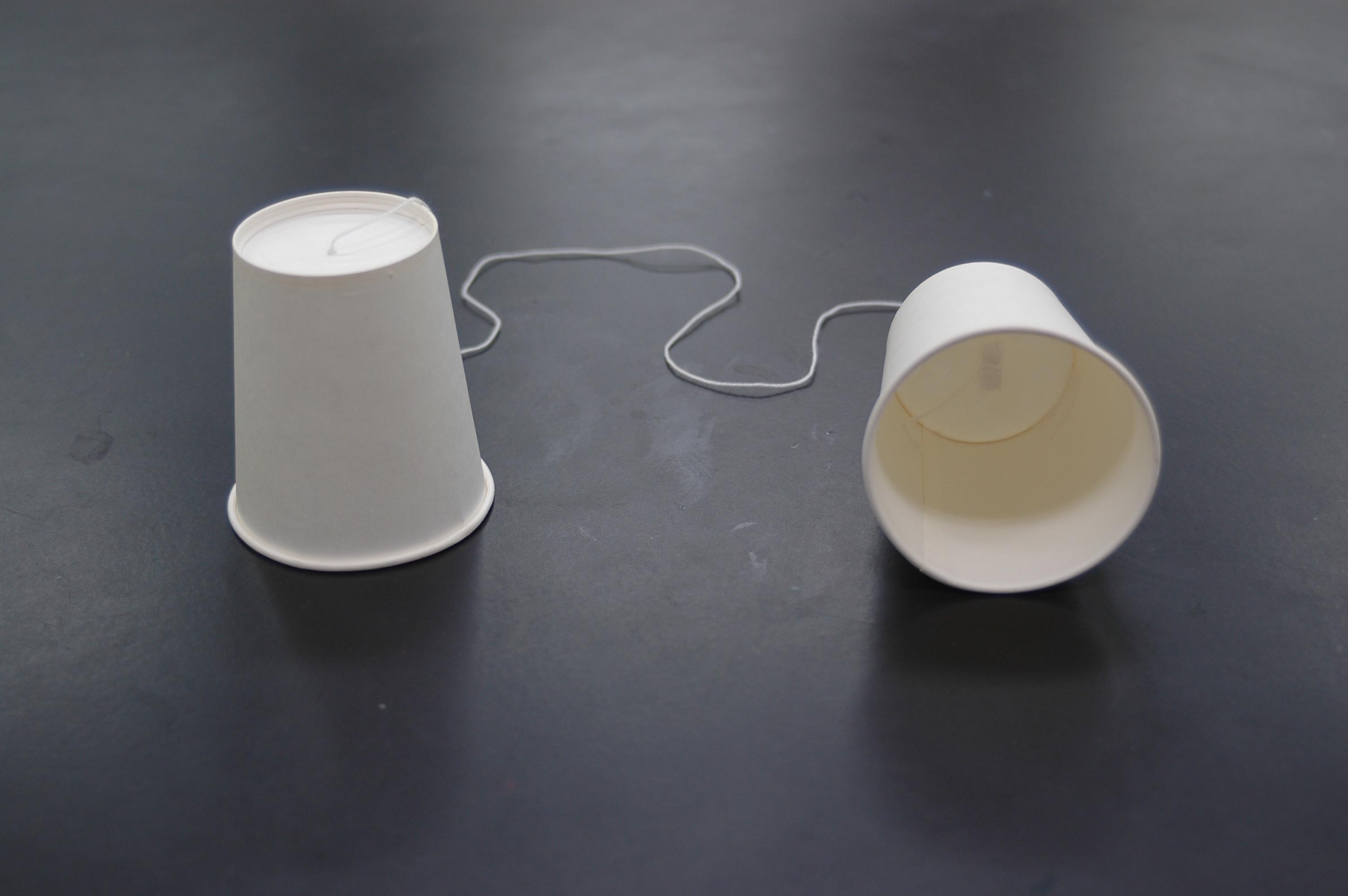 糸 電話 作り方