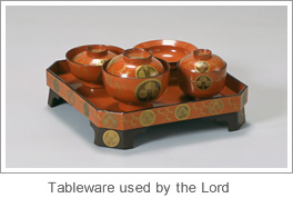 Tableware used by the Lord